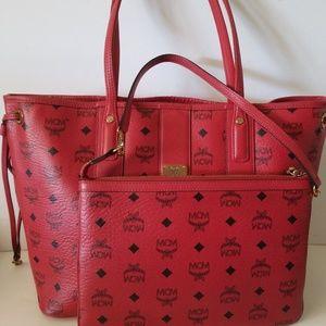 MCM Medium Liz Reversible Visetos Tote Bag